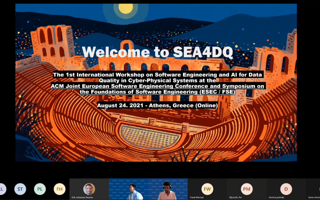 Highlights from SEA4DQ 2021 – the 1st International Workshop on Software Engineering and AI for Data Quality in Cyber-Physical Systems.
